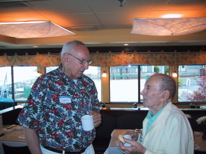 Dave Eckhardt and Bob Baum at the 2004 Troop 3 reunion. Photo by Pic Harrison