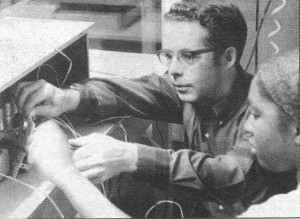 John Bowker, Jr. working with a student on the second radion station he built at Tennessee State University in 1971