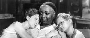 """Ethel Waters, Julie Harris and Brandon DeWilde in """"Member of the Wedding"""" from 1952"""