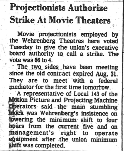 Projection's 1983 Strike Vote
