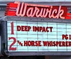 The old Warwick Theater Marquee in March 1999.